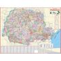 Mapa Do Estado Do Paraná --- Político --- 117 X 89 Cm