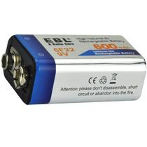 Bateria 9v Recarregável Ebl 600mah Lithium 9volts .a Melhor!