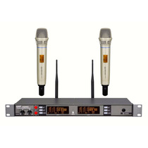 Atl-audio Ugx8ii Skm-ii Duplo (2 Microfones) Uhf, Em 12x