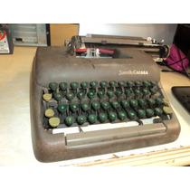 Maquina De Escrever Antiga Portátil Smith Corona Com Estojo
