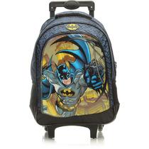 Mala Com Rodas Infantil 16 Batman Gothan Face - 5400