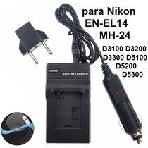 Carregador Mh-24 Para Nikon En-el14 D3200 D3300 D5200 D5300