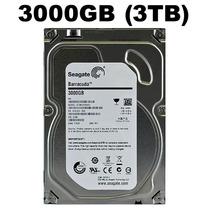 Hd Seagate Barracuda 3tb 3000gb 64mb Sata3 6gb/s 7200rpm Pc