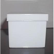 Caixinhas De Acrílico 4x4 Branco Sólido 70 Unidades