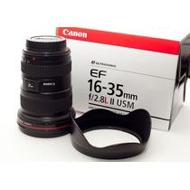 Lente Canon Ef 16-35mm F/2.8l Ii Usm 1 Ano Garantia Platinum