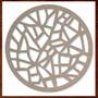 Quadro Decorativo Mandala Mdf Escultura Parede Recorte 50cm