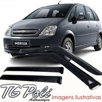 Calha Defletor De Chuva Chevrolet Meriva 03/12 Tg Poli
