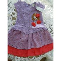 Vestido/fantasia Princesa Sofia- Pronta Entrega 3 E 5 Anos