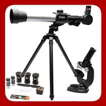 Kit Telescópio 60/120x + Microscópio 60x/1200x Vivitar Mic20