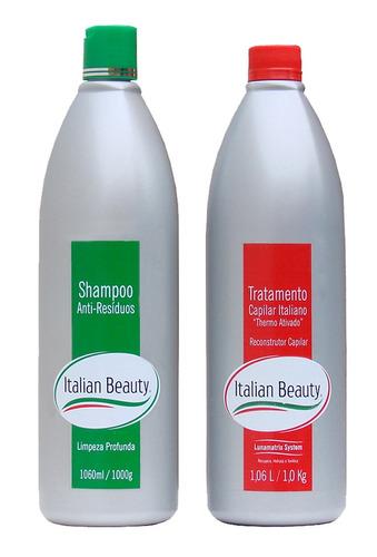202267c8c Kit Escova Italiana Shampo + Progressiva -italian Beauty R$219 lGBEU ...