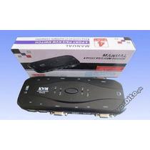 Chaveador Kvm Switch 4 Portas Vga E Ps2 Para 4 Cpu