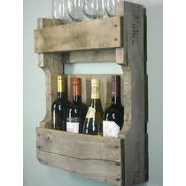 Adega De Madeira E Porta Taças Para Vinhos E Bebidas