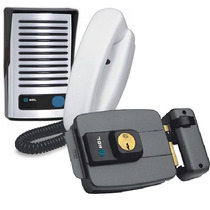 Interfone Porteiro Eletrônico F8 C/ Fechadura Elétrica Hdl