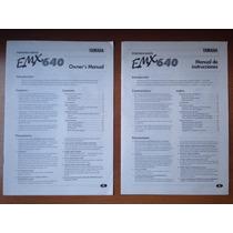 Manual De Instruções Da Mesa De Som Yamaha Emx640
