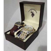 Kit 2 Peças Relógio Analógico U.s. Polo Assn. Usc2165 1113