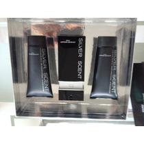 Kit Perfume Silver Scent 100ml 3em1+after Shave + Shower Gel