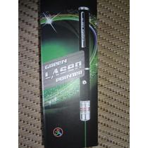 Laser Pointer Green 3000mw Reais +5 Pont.+ Estojo + 2 Pilha