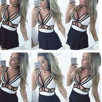 Body 3d Blusas Femininas Com Decote Decotado Tirinhas Tiras
