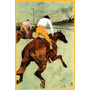 Jóquei Cavaleiro Cavalo Corrida Pintor Lautrec Poster Repro