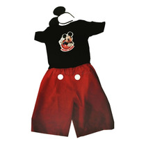 Fantasia Mickey Mouse Curta Infantil Com Orelhas Rubies