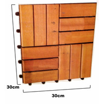 Piso Deck Madeira Eucalipto 9 Peças Modular 30 X 30cm