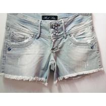 Shorts Jeans Desfiado Rock Blue - Feminino