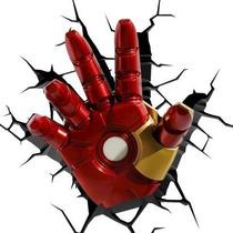 Homem De Ferro Iron Man Marvel Vingadores Luminária Art 3d