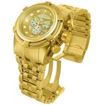 Relógio Invicta Bolt Zeus 12738 Gold Swiss Original Na Caixa