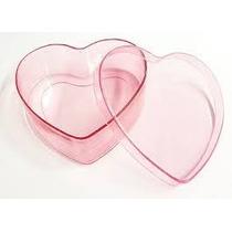 Caixa Coração Acrílico - Pacote Com 12 Unidades