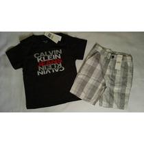 Calvin Klein Conjunto Menino Shorts Original Eua