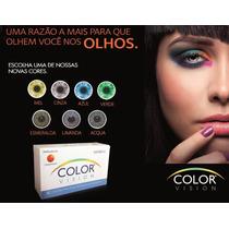 Lente De Contato Color Vision - Mel, Verde, Azul, Cinza Etc