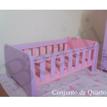 Berço - Mobília Em Madeira Para Casa De Boneca