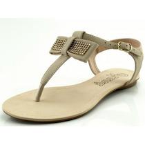 Rasteira Glamm Maná Laço Nude - Sapatos Mania
