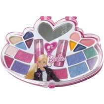 Kit Estojo Maquiagem Barbie Infantil C/ Mini Espelho Candide