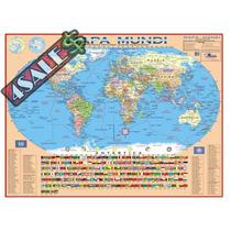 Mapa Mundi Politico Escolar Atualizado - 120cm X 90cm + Nf