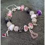 Pulseira Bracelete Tipo Pandora Banho Prata 925 Completa