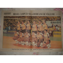 Poster Zh Brasil Campeão Sul-americano 1995 De Vôlei.