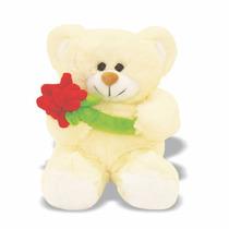 Pelúcia Urso Bob - M - Com Flor - Soft Toys