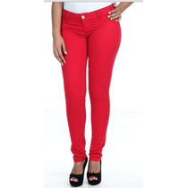 Kit 5 Calça Sawary Vermelha Jeans Super Promoçao