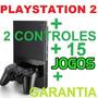 Video Game Play 2 Desbloqueado Completo Com Jogos + Brinde