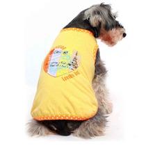 Camiseta Coração Amarelo Gutti Pet - Pequeno