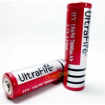 Bateria Li-ion 18650 7800mah 3.7v - Recarregável