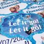 Kit 20 Plaquinhas Para Foto Prontas Frozen - Compre E Ganhe!