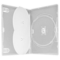 25 Estojo Capa Dvd Box Amaray Triplo Grosso Transparente