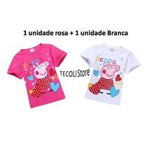 Camisa Peppa Pig 2 Unidades Infantil Pronta Entrega Feminina