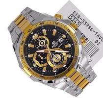 Relógio Casio Edifice Efr-539 Dourado Com Cinza Completo
