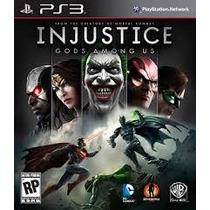 Injustice (gods Among Us) + Dvd Liga Da Justiça { Ps3 }