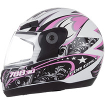 Capacete Evolution 3g 788 For Girls Feminino + 2 Brindes