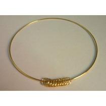 Bracelete Maciço Ouro 18k/750 4 Grs C/ Argolinhas