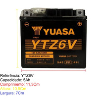 Bateria Yuasa Ytz6v Biz Titan 150 Bros Xre Fan 125
